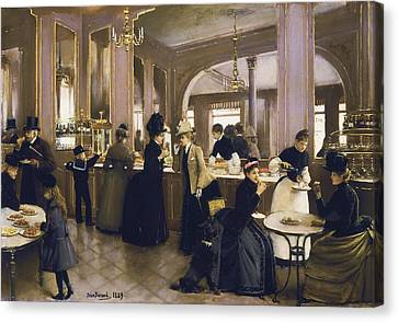 Restaurant Es Canvas Print - Beraud, Jean 1849-1935. The Gloppe by Everett