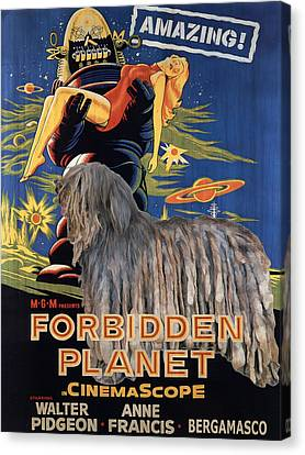 Bergamasco Art Canvas Print - Forbidden Planet Movie Poster Canvas Print by Sandra Sij