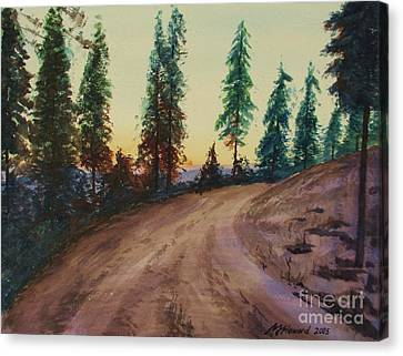 Canvas Print featuring the painting Bergebo Forest by Martin Howard