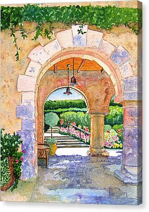 Beringer Winery Archway Canvas Print by Gail Chandler