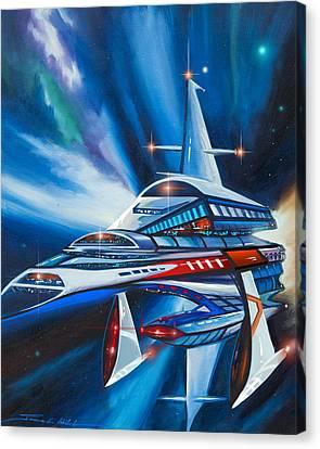 Berkey Iv Starship Canvas Print