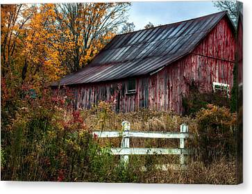 Berkshire Autumn - Old Barn Series   Canvas Print by Thomas Schoeller