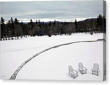 Berkshires Winter 2 - Massachusetts Canvas Print by Madeline Ellis