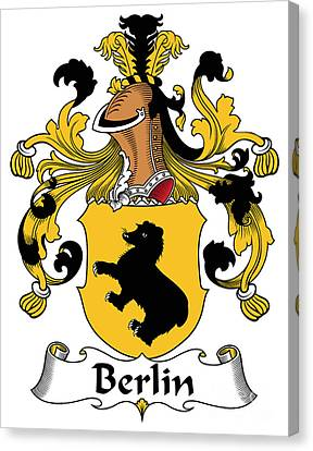 Berlin Coat Of Arms German Canvas Print