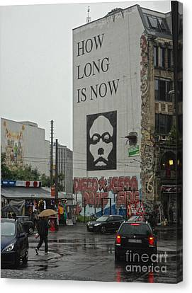 Berlin - How Long Is Now Canvas Print by Gregory Dyer