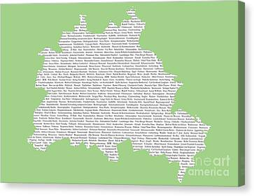 Berlin Map Typgraphy Canvas Print by Art Photography