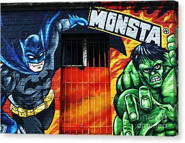 Berlin Monsta Door Canvas Print by John Rizzuto