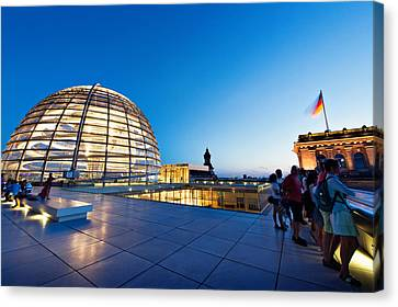 Berlin Reichstag Building Roof Terrace Canvas Print by Alexander Voss