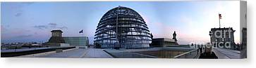 Berlin - Reichstag Panorama Canvas Print by Gregory Dyer