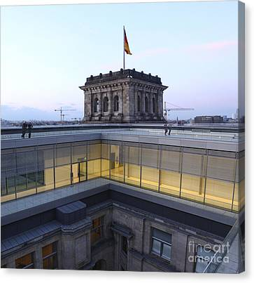 Berlin - Reichstag Roof - No.04 Canvas Print by Gregory Dyer