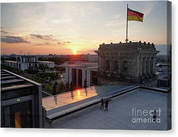 Berlin - Reichstag Roof - No.07 Canvas Print by Gregory Dyer