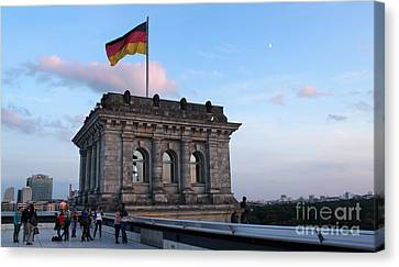 Berlin - Reichstag Roof - No.09 Canvas Print by Gregory Dyer