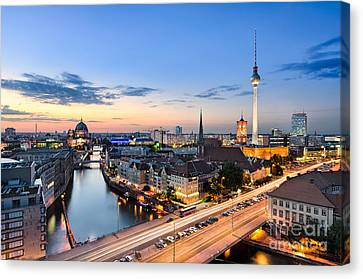 Berlin Skyline Canvas Print by Michael Abid