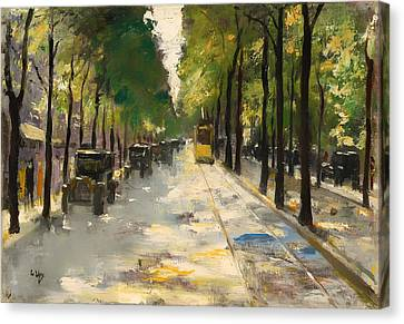 Berlin Street 1920s Canvas Print by Mountain Dreams