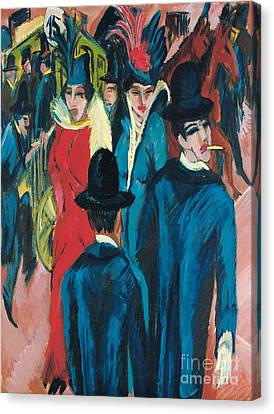 Berlin Street Scene Canvas Print by Ernst Ludwig Kirchner