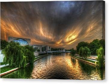 Berlin Sunset Canvas Print by Nathan Wright