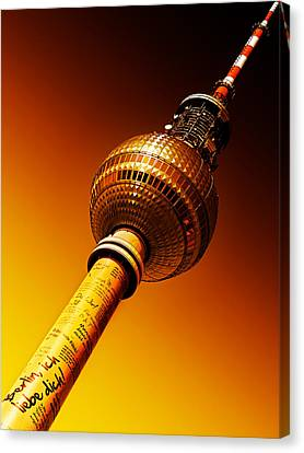 Berlin Television Tower - Berlin I Love You Canvas Print by Alexander Voss