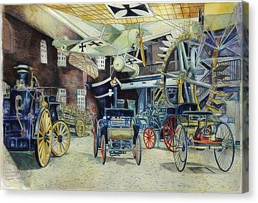 Berlin Transport And Technology Museum Canvas Print by Leisa Shannon Corbett