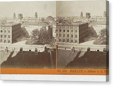 Berlin Canvas Print - Berlin, V. Schloss N. D Construction Academie by Artokoloro