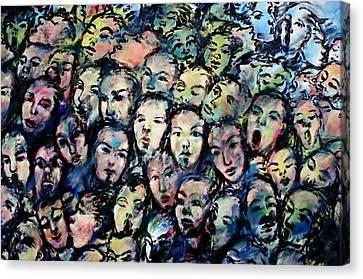 Berlin Wall Graffiti  Canvas Print by Anthony Dezenzio