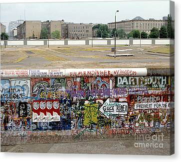 Berlin Wall Canvas Print by Werner Otto