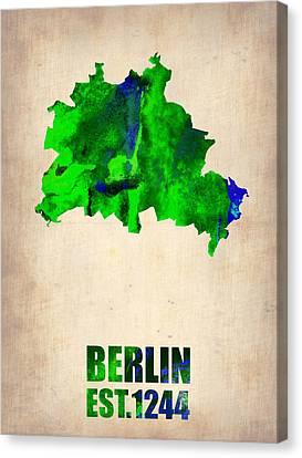 Berlin Watercolor Map Canvas Print by Naxart Studio