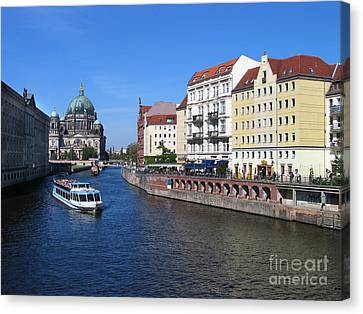 Berliner Dom And Nikolaiviertel Canvas Print by Art Photography
