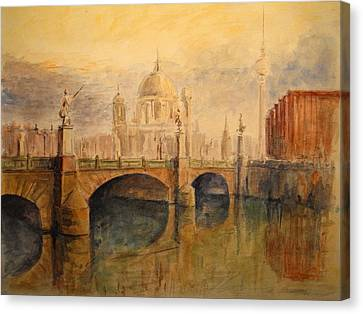 Berliner Dom Canvas Print by Juan  Bosco
