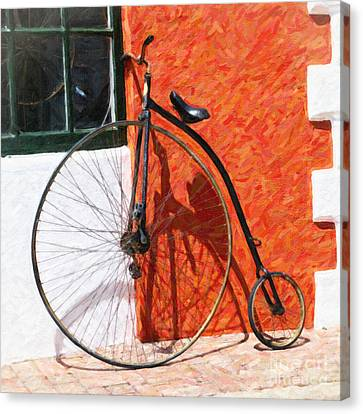 Canvas Print featuring the photograph Bermuda Antique Bicycle by Verena Matthew