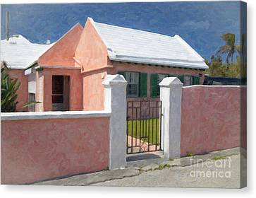 Canvas Print featuring the photograph Bermuda Garden Gate by Verena Matthew