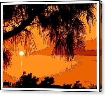 Bermuda Sunset Canvas Print by Mariarosa Rockefeller