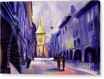Bern Sunrise Canvas Print by Ryan Fox