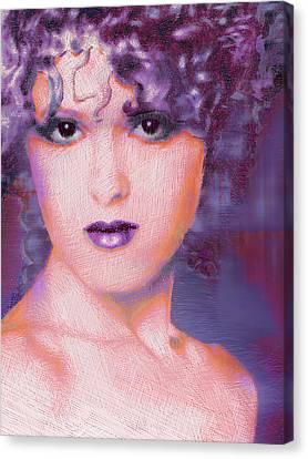 Bernadette Peters Pop Canvas Print by Tony Rubino