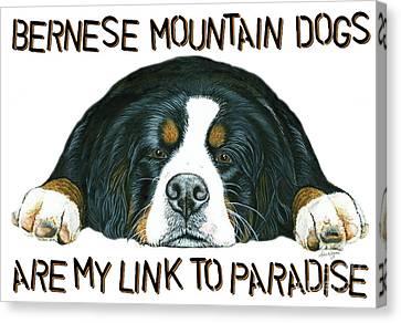 Bernese Mountain Dog Paradise Canvas Print by Liane Weyers