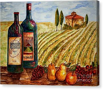 Bernhardt And Retreat Hill Winery Canvas Print by Tamyra Crossley