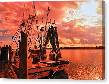 Canvas Print featuring the photograph Bernice And Bubba by Dennis Baswell