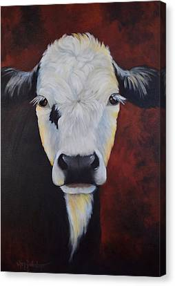 Canvas Print featuring the painting Bernice by Cheri Wollenberg
