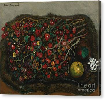Berries And Apples Canvas Print by Celestial Images