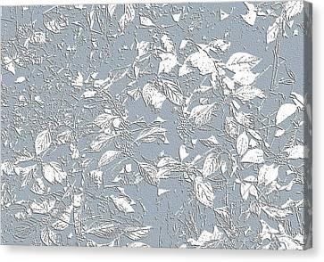 Berry Branch Blue Canvas Print by Ellen O'Reilly