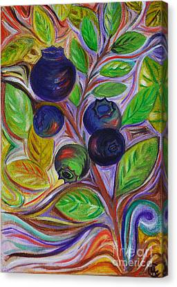Canvas Print featuring the painting Berry Bush by Cynthia Lagoudakis