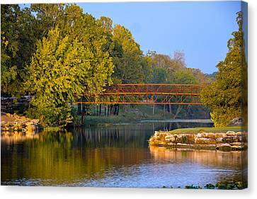 Berry Creek Bridge Canvas Print by John Johnson