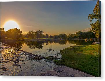 Berry Creek Sun Set Canvas Print by John Johnson