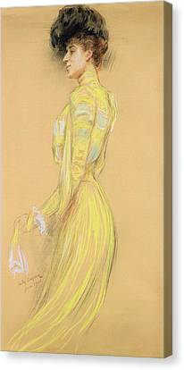 Berthe Cerny 1868-1940 June 1900 Pencil On Paper Canvas Print by Jules Cayron