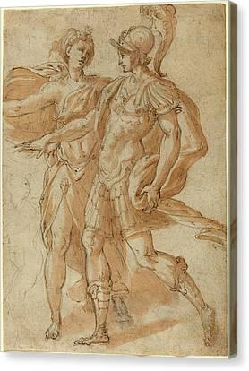 Bertoia Italian, 1544 - 1573-1574, Mars And Diana Recto Canvas Print by Quint Lox