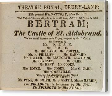 Bertram Canvas Print by British Library