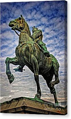 Canvas Print featuring the photograph Bertrand Du Guesclin by Elf Evans