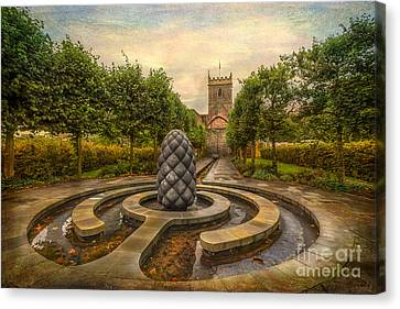 Beside Still Waters Canvas Print by Adrian Evans