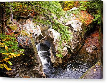 Beside The Water Canvas Print by Bill Howard