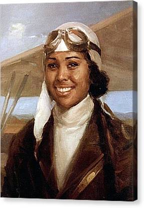 Bessie Coleman, American Aviator Canvas Print by Science Source