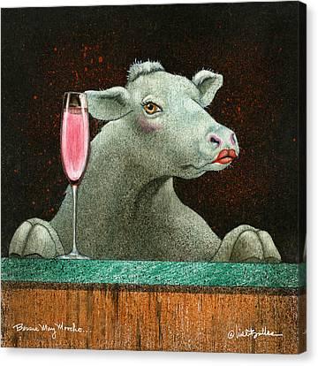 Bessie Mae Moocho... Canvas Print by Will Bullas